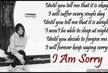 Saying Sorry...