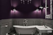 Modern Victorian bathroom / Interior design inspiration for a modern interpretation of a Victorian bathroom