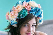 moje výtvory / s láskou vyrobené kvetinové fascinátore do vláskov