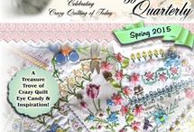 Crazy Quilt Quarterly Magazine / A magazine devoted entirely to the elegant art of Victorian Crazy Quilting.  Released quarterly and available on Magcloud: http://www.magcloud.com/user/kitty-and-me