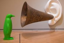 """Green Penguin"" visits Crystal Bridges / by Crystal Bridges Museum of American Art"