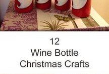 vinflasker,julepyntet