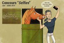 """Concours """"Selfies"""" ChevalAnnonce / ChevalAnnonce.com, en partenariat avec la sellerie en ligne SoCheval vous font gagner 500 € de lots ! http://www.chevalannonce.com/forums-8599278-concours-photo-chevalannonce-socheval"""
