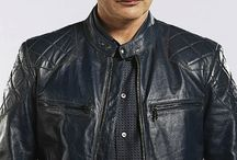 Hannibal - Gorgeous In Belstaff Black Leather - VA VA VA VOOM - Biker Boy!