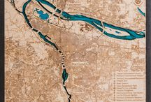 Portland, OR. 3D Wood Map