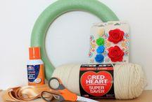 Yarn crafts / Alternative yarn crafts other than knitting, crocheting, weaving...  Yarn wreath Amigurumi ? / by Crochetic