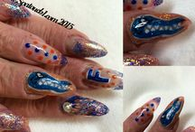 Sports inspired nails / Nail designs inspired by sports or sports teams.