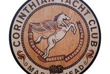 Pegasus wood floor inlay compass rose / #pegasusinlay #compassrose #floormedallion  Woods used are American Walnut, Wenge, Peruvian Walnut, White Curly Maple, Genuine Mahogany, African Mahogany, Sipo Mahogany