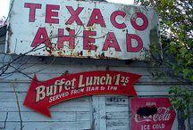 Texaco Mancave Signs