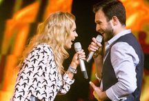 """Monika Linkytė & Vaidas Baumila   Lithuania Eurovision 2015 / Monika Linkytė and Vaidas Baumila represented Lithuania in the Eurovision Song Contest 2015 with the song """"This Time""""."""