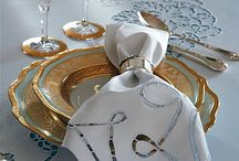 Gold tablescapes