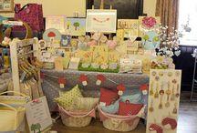 Craft stall displays