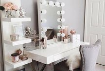 Makeup table ideas.