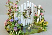 Idées décors miniatures / Dans ce tableau, des idées pour nos mises en scène pour nos villages miniatures...