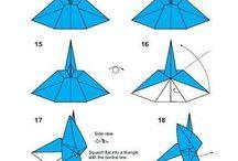 Origami, vločky