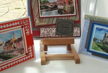 My making cards magazine cards using free topper sheets