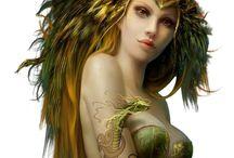 "Tubes Poser "" Fantasy "" / Elfes,Fées,Sirènes,Anges...."