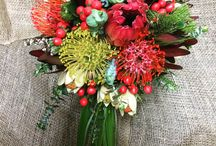 Native Bouquets / A selection of wedding bouquets created with stunning native flowers