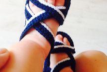 sandalias de ganchillos