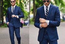 Blue 3 piece suits