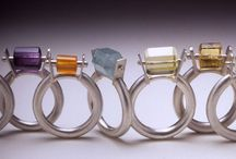 Rivet stone set rings