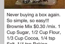 brownie mix homemade