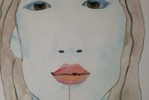 Portretten, aquarel / Portretten aquarel, watercolour