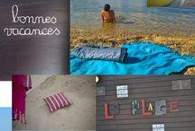 """Planche Tendance """"playa"""" / Bouchara Paris vous transporte à la mer, sur le sable, en bateau, sur son transat, les draps de plage et foutas sont les rois!"""