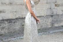 silver dress/skirt