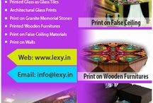 Print on Wood / Print favourite design or images on hard subtrates like Granite, Marble, Glass, Wood, gypsum board, PVC Sheet and so on... using Lexy Print Transfer Technology....