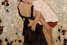 Mothers and children in art