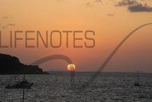 Lifenotes - L'inizio / Due articoli introduttivi sul nostro sito e delle immagini rappresentative del mondo dei due autori