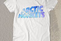 New Arctic Monkeys Blue Letter t-Shirt