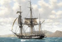 HMS Beagle /  British naval vessel aboard which Charles Darwin served as naturalist on a voyage to South America and around the world (1831–36). The specimens and observations accumulated on this voyage gave Darwin the essential materials for his theory of evolution by natural selection.