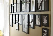 picture frames and hanging pictures