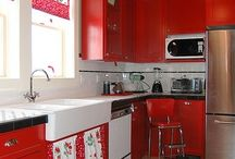 Kitchen Ideas - Red & Teal / by Candace Goodman
