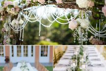 Wedding Ideas / you can see roughly what I'm thinking. Very natural, ethereal, with greens and pastels and what not. pin away!   UPDATE: we have chosen a venue, but it does not allow open flames, as much as we would have loved to have something of a firey nature. please bear this in mind when posting ideas.