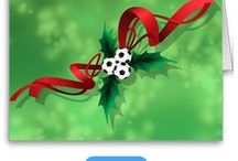Soccer Christmas / Soccer or football Christmas decorations, wrapping paper & cards for all athletes, coaches and fans.