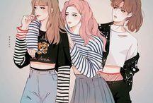 BTS as girls