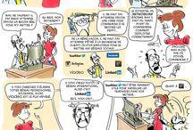 """Ma BD préférée / BD """"Les Bonnes Pratiques sur les réseaux sociaux""""  S'inspirant de la célèbre Baronne Staffe, qui, à la fin du 19ème siècle publia de nombreux livres de Savoir-vivre, cette bande dessinée, joyeusement décalée, vous donne les bons conseils pour utiliser au mieux les réseaux sociaux dans toutes circonstances de la vie. Réalisation ATTITUDE RESEAU et La Bande Destinée. #BD #Comics"""