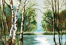 Malování-krajinky,zátiší
