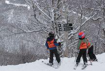 Kids Skis / reviews of the best kids skis, kid skiing photos and family ki trips