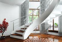 schody zabiegowe / Wyjątkowe schody wykonane z prefabrykatów betonowych