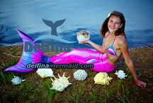 Mermaid's tails seria Queen of the Sea Cariba color / You can buy a beautiful mermaid tails. New technologies and 3D-effect. Most monofin swimming. Swimwear with seashells. http://delfinamermaid.com/