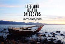 Life and Death on Lesvos / Menurut PBB, konflik yang terus berlanjut di Suriah adalah faktor besar penyebab peningkatan angka pengungsi. Pengawasan perbatasan di Yunani, Italia, dan Hungaria mengalami kesulitan menghadapi pengungsi yang datang tak hanya dari Suriah, tapi juga Timur Tengah, dan Afrika.