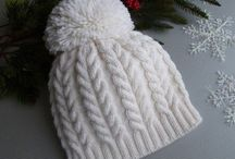 вязанные шапочки
