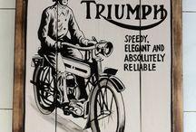 """Sign board vintage motor bike """"Triumph"""" / Sign board vintage replica """"Triumph"""" Motor bike"""