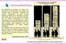 12 Textos.- El reinado de Alfonso XIII hasta 1923. / El reinado de Alfonso XIII hasta 1923 en textos de todo tipo.... Comenta cada texto con método..... Haz una breve PRESENTACIÓN en la que indiques: el tipo de documento qué es: lo que representa; a qué fecha se refiere; el autor (si es conocido); a quién va destinado... A continuación, realiza en un BREVE ANÁLISIS de las ideas principales sobre las que habría que hacer el comentario. Recuerda que este formato sólo permite 500 caracteres.