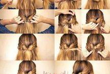 Penteados / Penteados para você fazer sozinha. São simples e divertidos. Um show!