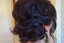 hair, short up-do's